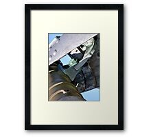 scarborough lighthouse cannon Framed Print