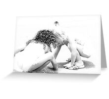 Hands together doing art :(Trailer Park America series) Greeting Card