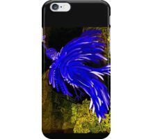 psycho chicken-cobalt blue iPhone Case/Skin