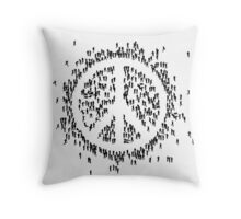 all we are saying.... is give peace a chance.... Throw Pillow