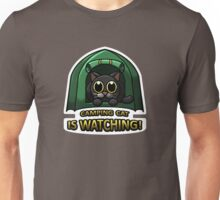 Camping Cat Is Watching! Unisex T-Shirt