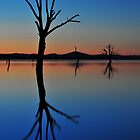 Autumn Sunset Lake Hume by mspfoto