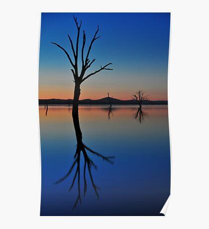Autumn Sunset Lake Hume Poster