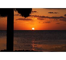 Key Largo thatched roof Photographic Print