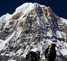 Mountaineers, Annapurna Sanctuary by morealtitude