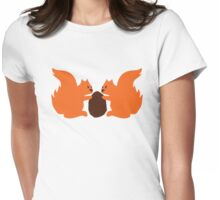 2 cute Squirrels sharing a nut Womens Fitted T-Shirt