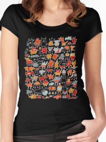 Monsters in the Dark Women's Fitted Scoop T-Shirt