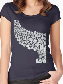 Dice spill Women's Fitted Scoop T-Shirt