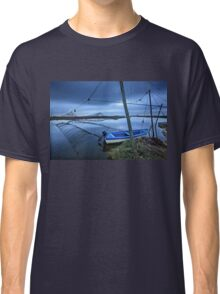 Lonely boat at the Delta of Aliakmonas river Classic T-Shirt