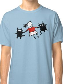 Happy Jumping Cats Classic T-Shirt