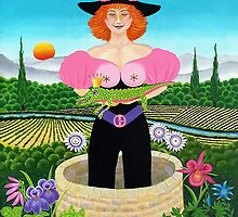 Naive paintings of Drosera Weisse by fuxart