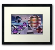 Meeting other planets Framed Print