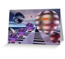 Meeting other planets Greeting Card
