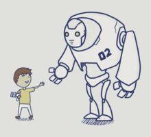 Robot meets boy by fftkrazee
