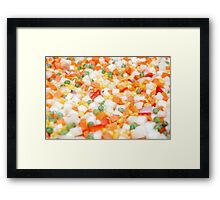 Healthy and Nutritious Mixed vegetables Framed Print