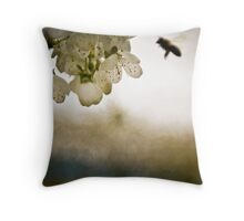 Silhouetted Flight Throw Pillow