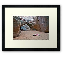 Playing in the Sand Framed Print