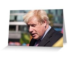 Boris Johnson, Mayor of London Greeting Card