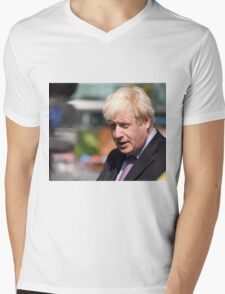 Boris Johnson, mayor of London Mens V-Neck T-Shirt
