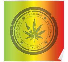 Marijuana stamp Poster