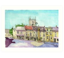 Stow on the Wold market place Art Print