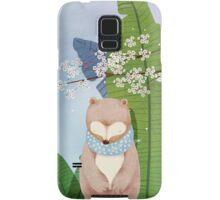 White Socks Series: Bear Under Sakura Blossom Samsung Galaxy Case/Skin