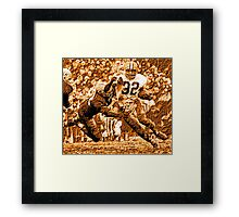 Jim Brown Framed Print