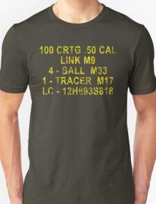 50 Cal Ammo Can Unisex T-Shirt