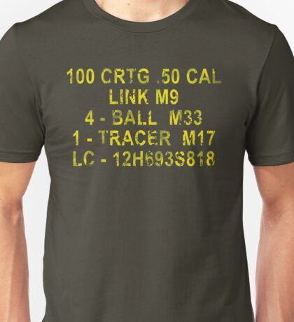 50 Cal Ammo Can Unisex T-Shirt