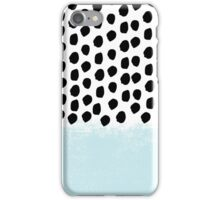 Lolita - Modern mint dots abstract painting minimal design trendy hipster decor dorm office retail  iPhone Case/Skin