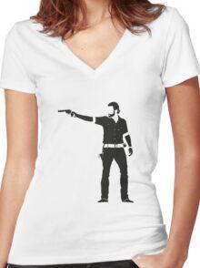 Rick Women's Fitted V-Neck T-Shirt
