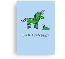 I'm A Triceratops (Unicorn + Narwhals) Canvas Print