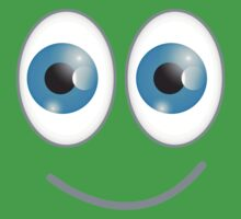 Funny cute wacky BLUE eyes looking with a smile Kids Clothes