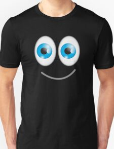 Funny cute wacky BLUE eyes looking with a smile T-Shirt