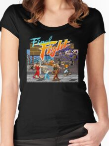 Metro City on fire! Women's Fitted Scoop T-Shirt