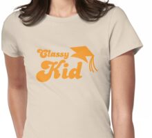 Classy kid with Education mortar board graduate Womens Fitted T-Shirt