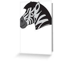 Zebra smile Greeting Card