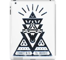 Connect With The Universe 2 - Typography and Geometry iPad Case/Skin