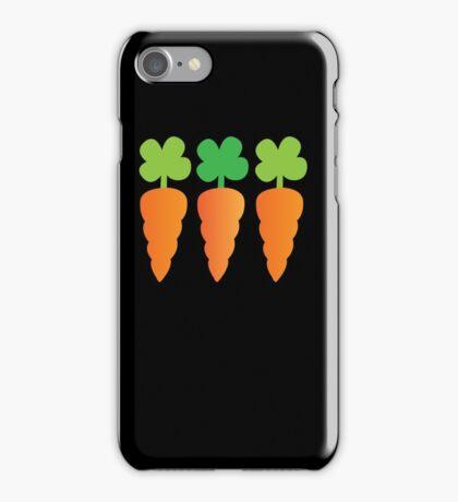 Three carrots orange vegetables iPhone Case/Skin