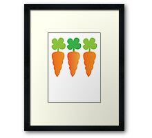 Three carrots orange vegetables Framed Print