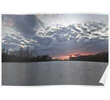 Sunset over Woodland Waters, Ancaster. Poster