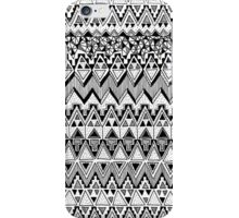 Black and White Tribal Pattern iPhone Case/Skin