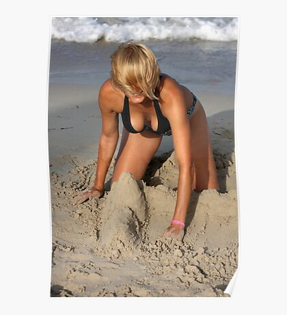 Sexy sand castle Poster