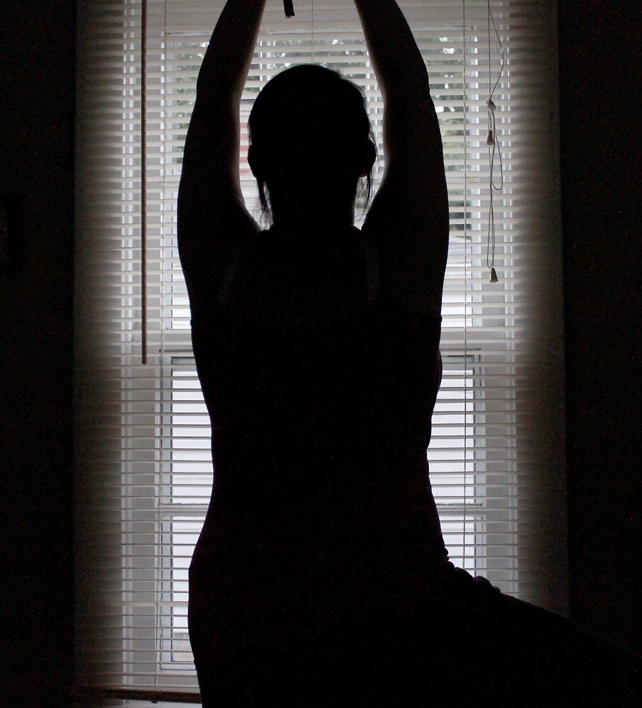 Yoga - Tree Pose Silhouette by Lauranette