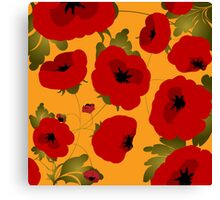 Poppy field forever Canvas Print
