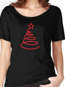 Twirly cute Christmas tree Women's Relaxed Fit T-Shirt
