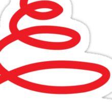 Twirly cute Christmas tree Sticker