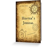 New! Supernatural Hunter's Journals! Greeting Card