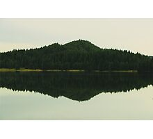 Lonely Island Reflection Photographic Print