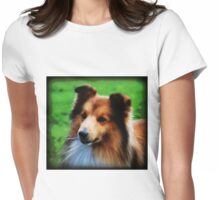 The Sheltie Womens Fitted T-Shirt